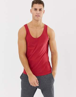Asos DESIGN organic tank in red