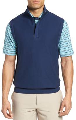 Bobby Jones Pique Jersey Quarter Zip Golf Vest