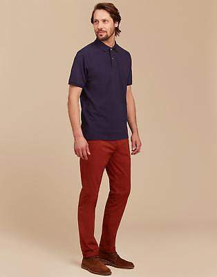 Mens The Laundered Chino Trousers in Dark Picante