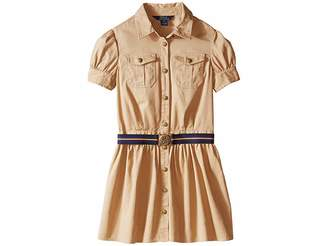 Polo Ralph Lauren Tissue Chino Shirtdress (Big Kids)