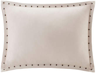 Reiss Madison Park Stud Trim Microsuede Oblong Feather Pillow