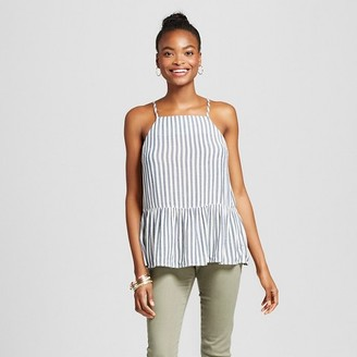 Mossimo Supply Co. Women's Drapey Woven Tank - Mossimo Supply Co. Blue and White Stripe $16.99 thestylecure.com