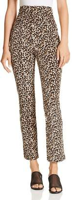 Rebecca Taylor Leopard-Printed Velour Pants