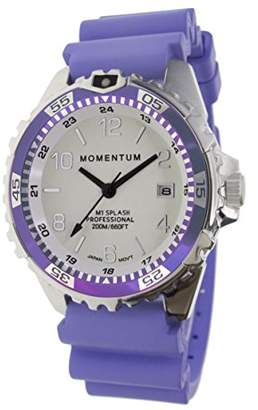 Momentum Women's Quartz Watch   M1 Splash by Momentum  Stainless Steel Watches for Women   Dive Watch with Japanese Movement & Analog Display   Water Resistant ladies watch with Date -Lume / Purple Rubber