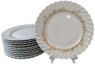 One Kings Lane Vintage Haviland Limoges Dinner Plates - Set of 12 - Stucco Mansion Antiques