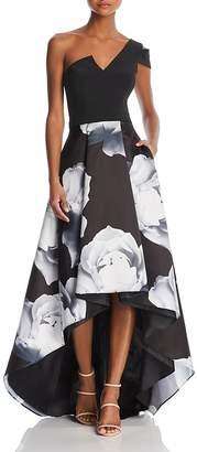 Aqua One-Shoulder Floral Ball Gown - 100% Exclusive