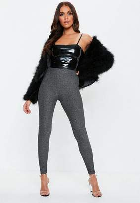 Missguided Silver Metallic Leggings