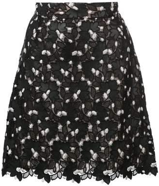 Giambattista Valli floral lace straight skirt