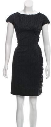 Nina Ricci Short Sleeve Mini Dress grey Short Sleeve Mini Dress