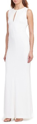 Women's Lauren Ralph Lauren Stretch Crepe Gown $160 thestylecure.com
