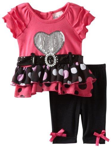 Little Lass Baby-Girls Newborn 2 Piece Dot Legging Set