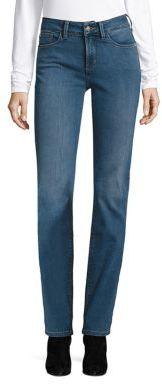 NYDJ Marilyn Straight-Leg Jeans $134 thestylecure.com