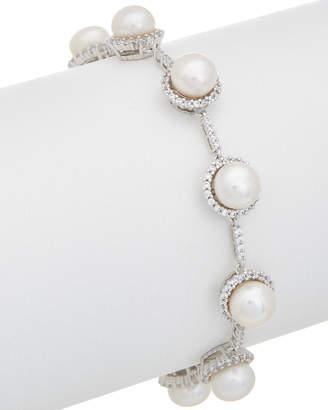Honora Silver 8-8.5Mm Pearl & Cz Bracelet