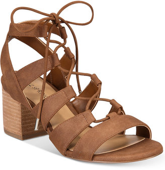 Call It Spring Ereissa Block-Heel Lace-Up Sandals $49.50 thestylecure.com