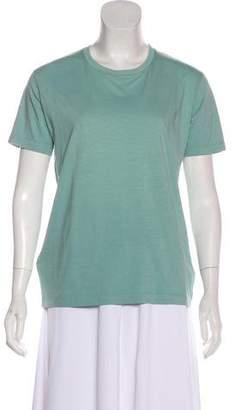 Prada Short Sleeve Scoop Neck Top