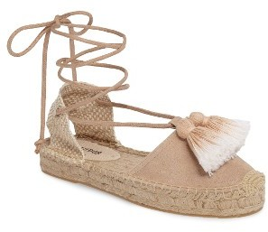Women's Soludos Tassel Lace-Up Espadrille $89.95 thestylecure.com