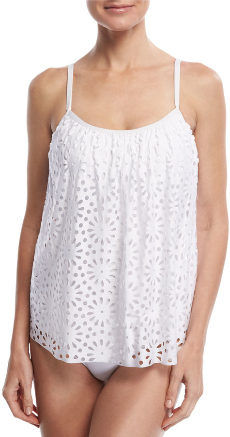 Luxe by Lisa Vogel Aphrodite Floral Sway Tankini Swim Top 7