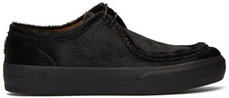 Dries Van Noten Black Pony Hair Low Chukka Boots
