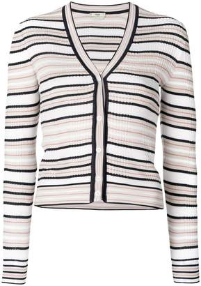 Fendi striped fitted cardigan