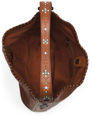 Concho Leather Hobo