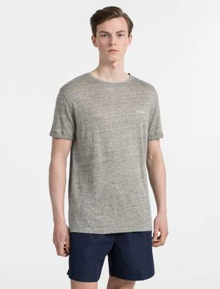 Calvin Klein linen crewneck logo t-shirt