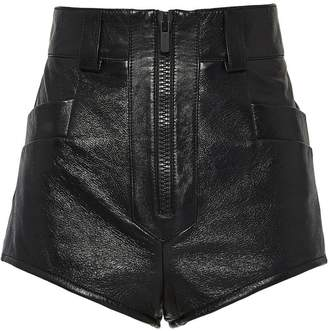 Miu Miu high-rise leather shorts