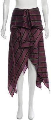 Sass & Bide Asymmetrical Printed Midi Skirt
