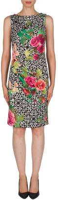 Joseph Ribkoff Rose & Lattice Dress