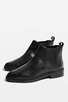 Topshop Womens Kiss Chelsea Boots - Black