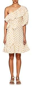 Lisa Marie Fernandez Women's Arden Polka Dot Linen Minidress - White Pat.