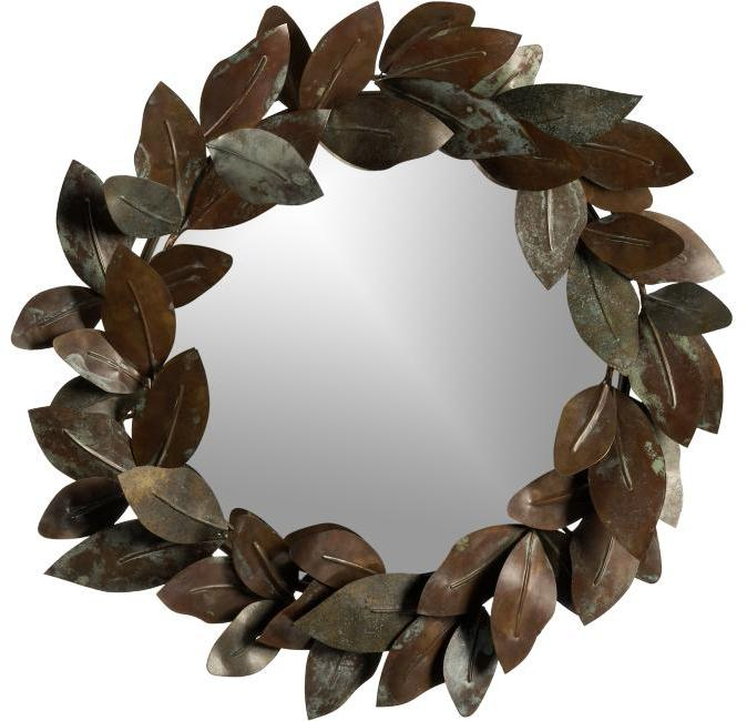 Leaves Mirror-Candleplate