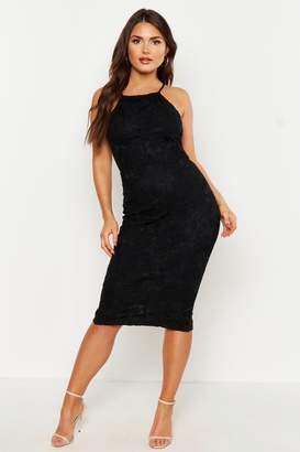 boohoo Lace Sleeveless Midi Dress