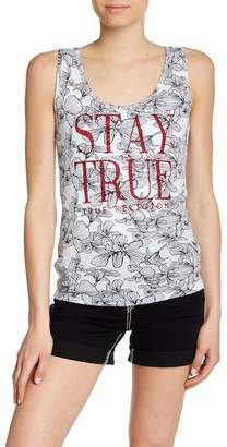 True Religion Stay True Rhinestone Tank Top