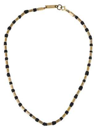 Isabel Marant Beaded Cotton Chain Necklace