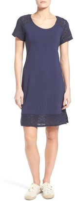 Tommy Bahama 'Tambour' Eyelet Sleeve Shift Dress $128 thestylecure.com