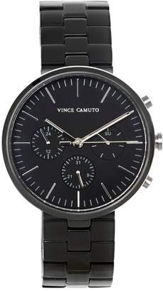 Vince Camuto Black Modern Link Watch
