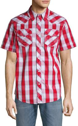 True Religion Men's Western Check Shirt - Red-multi, Size xxxl