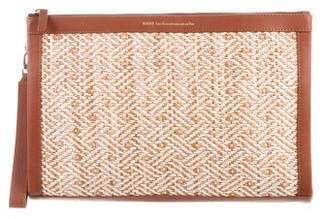 WANT Les Essentiels Leather-Trimmed Chevron Clutch