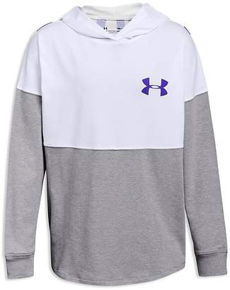 Under Armour Girls' Color-Block Logo Hoodie - Big Kid