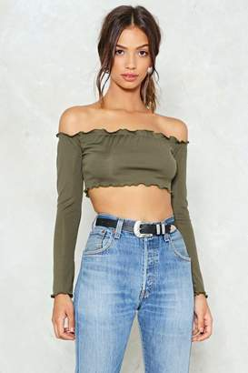 Nasty Gal In the Middle of Something Ribbed Crop Top