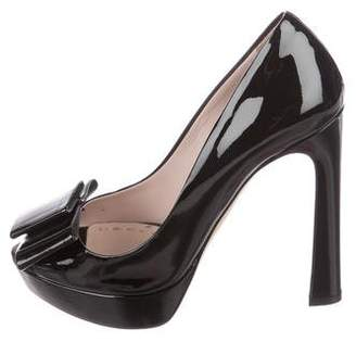 Miu Miu Patent Leather Bow Pumps