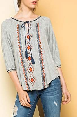 THML Clothing Peasant Tie Top