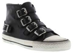 Ash Kid's Vava Leather Buckle High-Top Sneakers