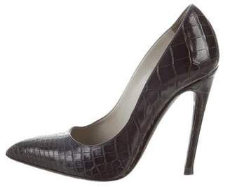 Tom Ford Pointed-Toe Alligator Pumps