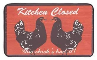 "Chef Gear Anti-Fatigue Faux Leather 18"" x 30"" Kitchen Mat"