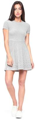 Juicy Couture Velour Grommet Embellished Dress