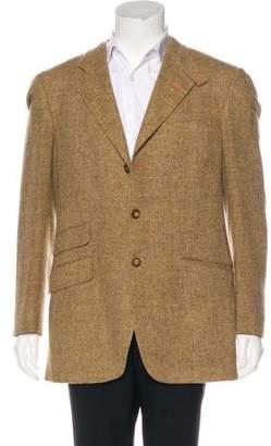 Etro Tweed Herringbone Wool Blazer
