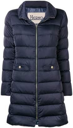 Herno padded slim fit coat
