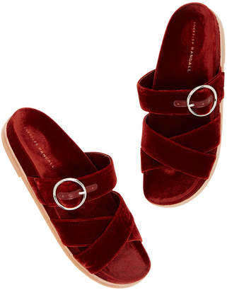 Loeffler Randall Patti Velvet Buckle Sandals