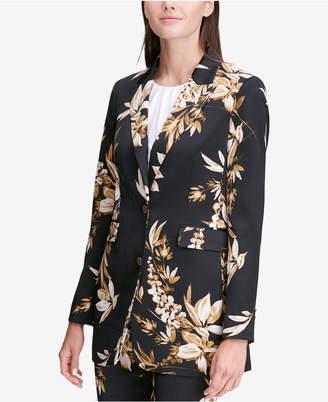 Calvin Klein Floral-Print Blazer